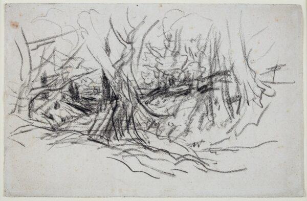 COX David O.W.S. (1783-1859) - Yew trees on Box Hill.