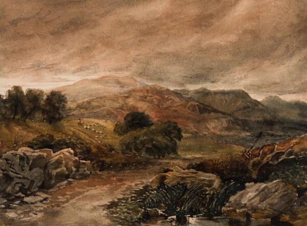 COX David Jnr. (1809-1885) - A Welsh bridge.