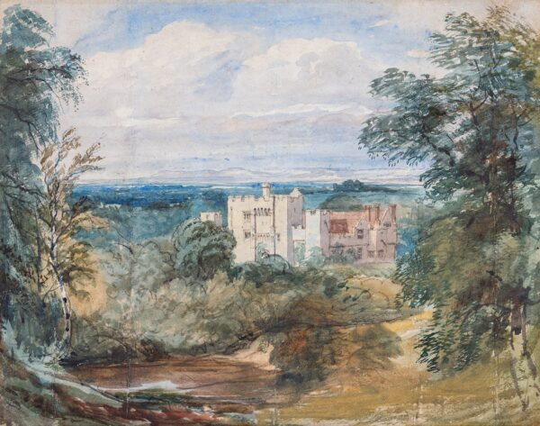 COX David Jnr (1809-1859) - 'Hever' Castle.