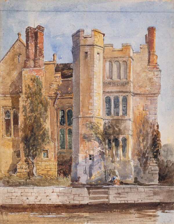 COX David Jnr (1809-1859) - Hever Castle from the Moat.