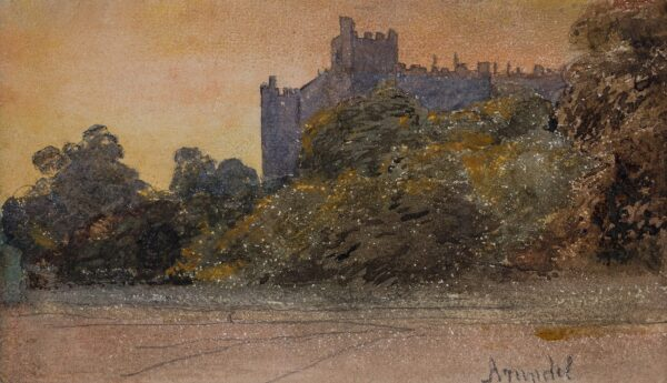 COX David O.W.S. (1783-1859) - 'Arundel' Castle at dusk.