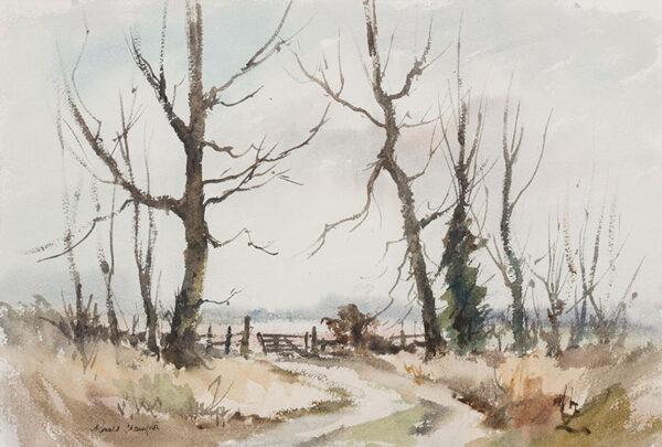 CRAMPTON Ronald (1905-1985) - West Norfolk landscape.