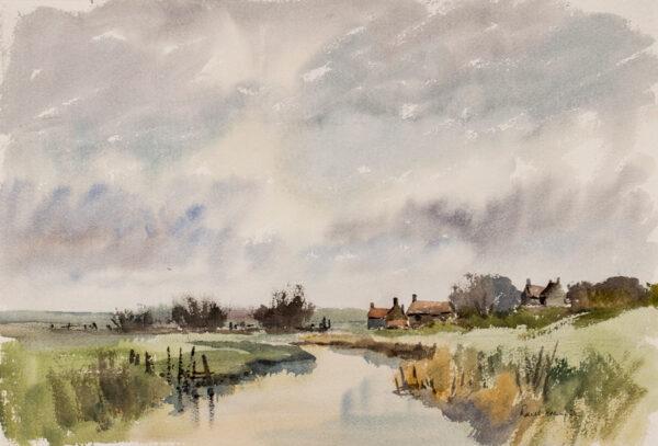 CRAMPTON Ronald (1905-1985) - Norfolk landscape.