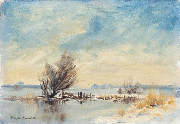 CRAMPTON Ronald (1905-1985) - A frozen Broad, Norfolk.