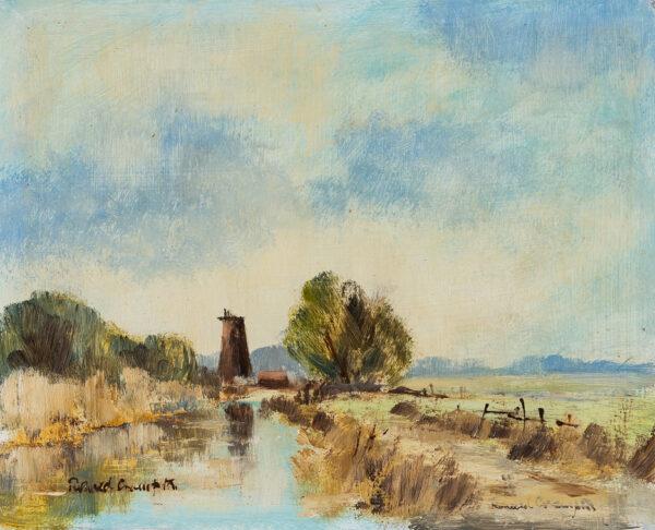 CRAMPTON Ronald (1905-1985) - 'Stubb Mill near Hickling', Norfolk.