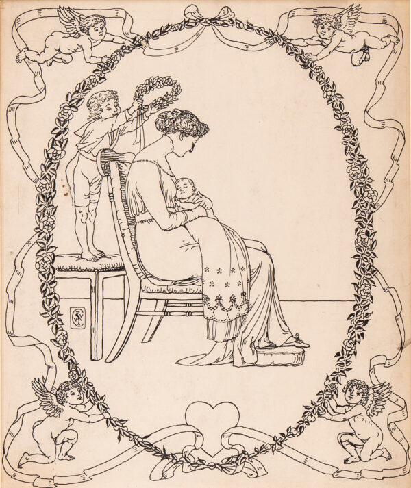 CRANE Walter (1845-1915) - 'My Mother'.
