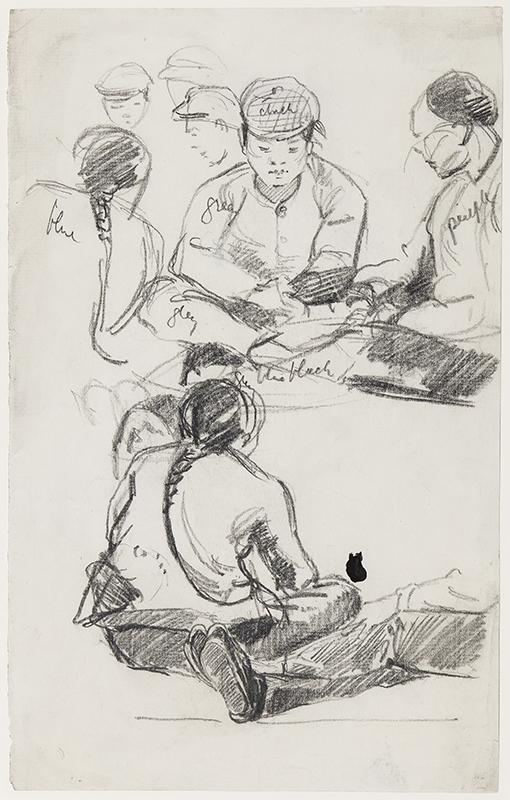 CRAWHALL Joseph (1861-1913) - Seated figures.