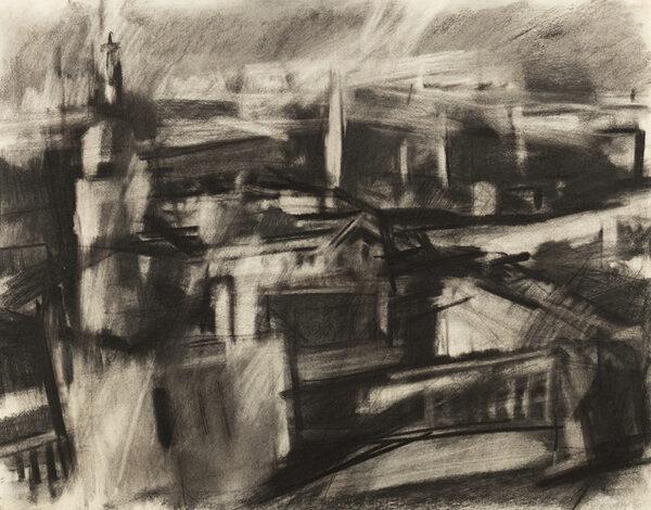 CREFFIELD Dennis (b.1931) - 'Landscape, Greenwich'.