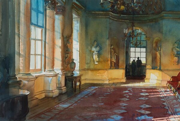 CRESWELL Alexander (b.1957) - Holkham Hall: the Statue Gallery.