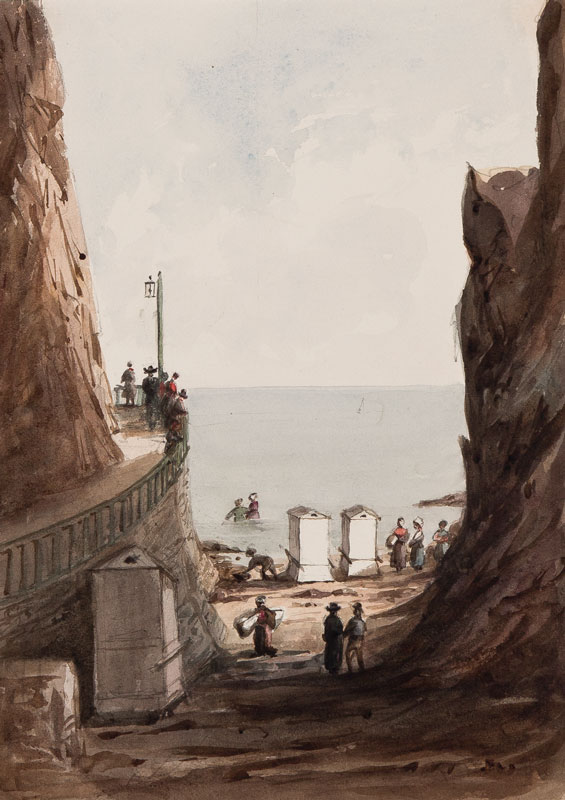 CRICHTON-STUART Lady James (Nee Hannah Tighe) (1800-1872) - 'Bathing Place Granville'.