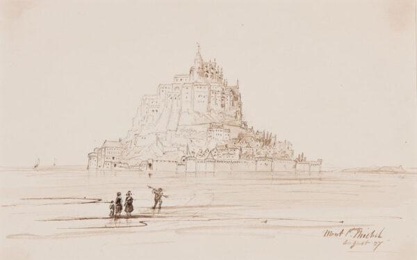CRICHTON-STUART Lady James (Nee Hannah Tighe) (1800-1872) - 'Entrance Gate, Mount St Michel'.