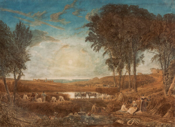 CRISTALL Joshua P.O.W.S. (1767-1847) - Harvest Scene.