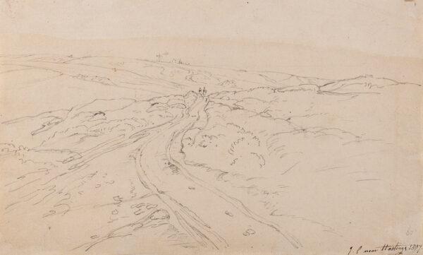 CRISTALL Joshua P.O.W.S. (1767-1847) - 'Near Hastings'.
