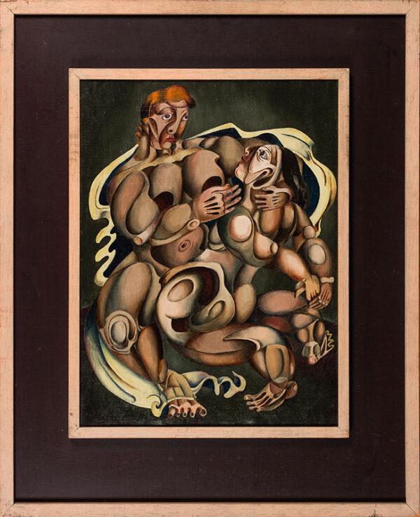 CROCKETT John (1918-1986) - Figure composition.