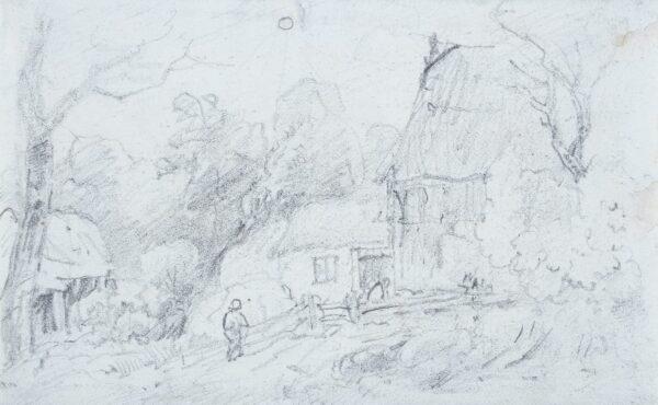 CROME John (1768-1821) (Circle of) - A farmyard study.
