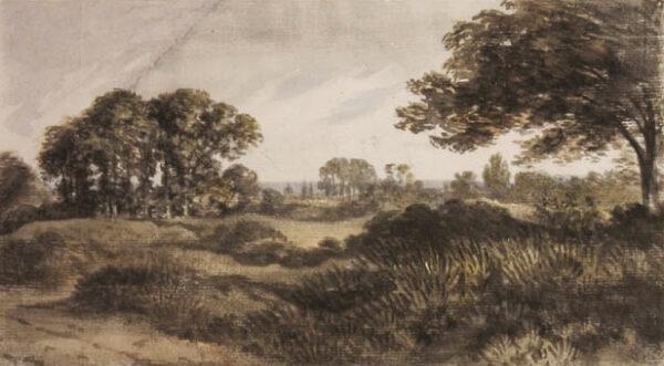 CROTCH Dr William (1775-1847) - 'Oxford from Bagley Wood'.