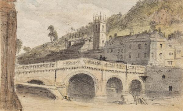 CROTCH Dr William (1775-1847) - 'St Mark's Widcombe New Church and the Old Bridge Bath…'.