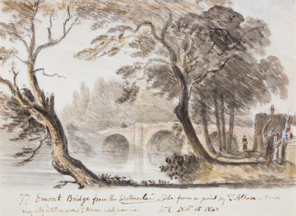 CROTCH Dr William (1775-1847) after Thomas Allom (1804-1872) - 'Emont Bridge from the Westmorland Side from a print by T.