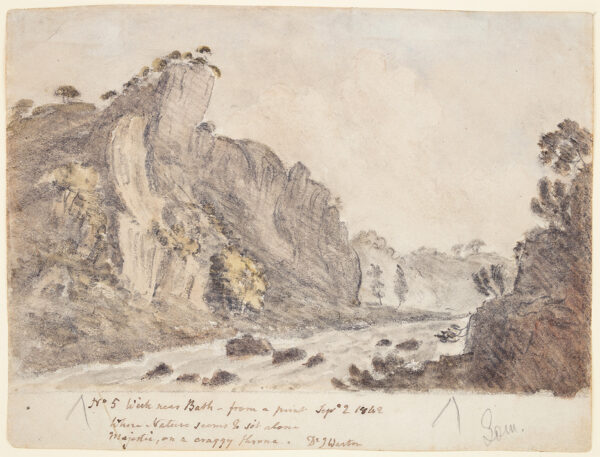 CROTCH Dr William (1775-1847) - 'Wick near Bath – from a print Sept.