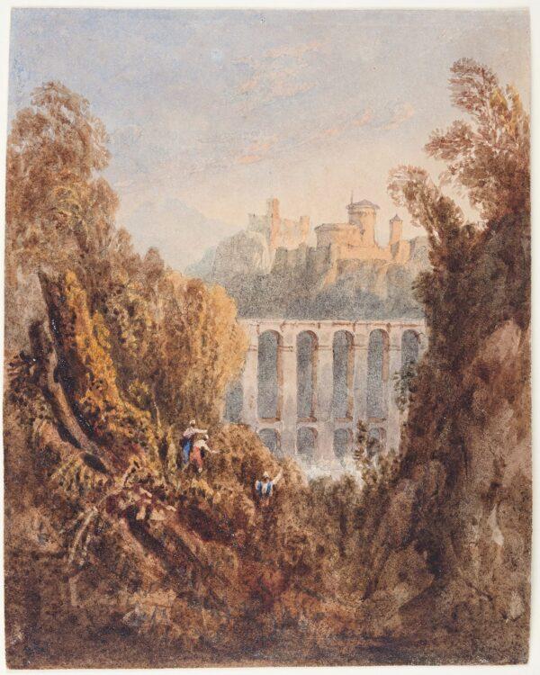 CROUCH William (fl.1817-1850) - 'In the Roman States': capriccio.