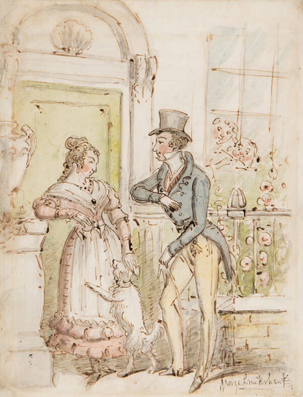 CRUIKSHANK George (1792-1878) - Courtship.