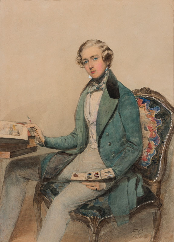 CRUIKSHANK Frederick (1800-1868) - Charles Campbell Prinsep (1825-1887) 2nd son of William Prinsep (1794-1874) and author of 'Record of the Hon.