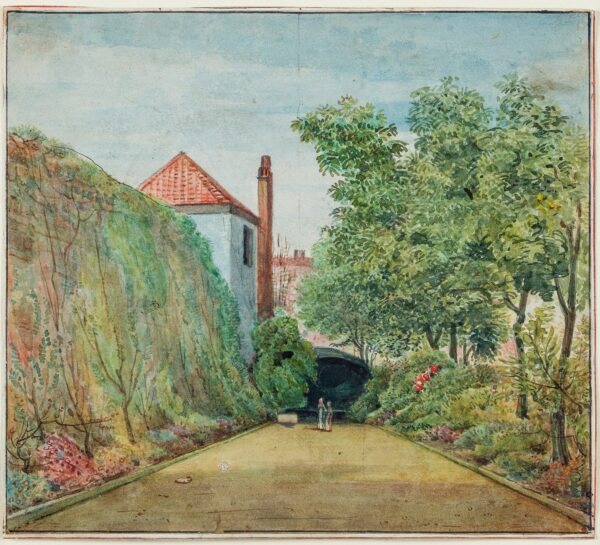 CUMBERLAND George (1754-1848) - Culver Street, Bristol: the house and garden of George Cumberland.