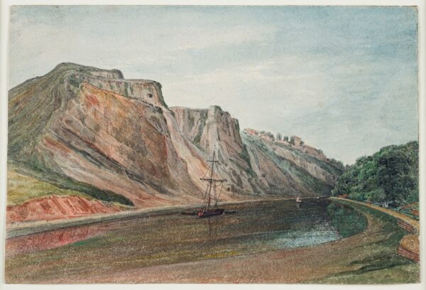 CUMBERLAND George (1754-1848) - 'Windmill Hill and Prince's Buildings – from Avon bank (Ashton?) side / afternoon'.