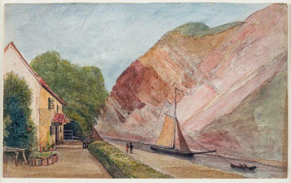 CUMBERLAND George (1754-1848) - 'Cottage Tea House – Mrs Hale / Leigh Wood Gate'.