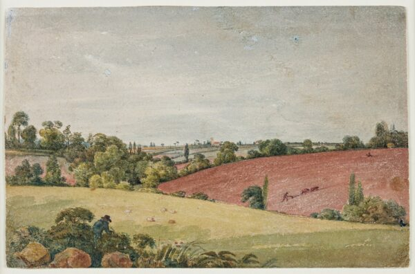 CUMBERLAND George (1754-1848) - 'Near Mr Gutch's Villa / With a view of St George's Church near Bristol'.