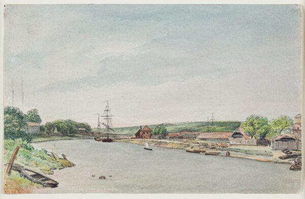 CUMBERLAND George (1754-1848) - 'Boat Builder's sheds, Bristol'.