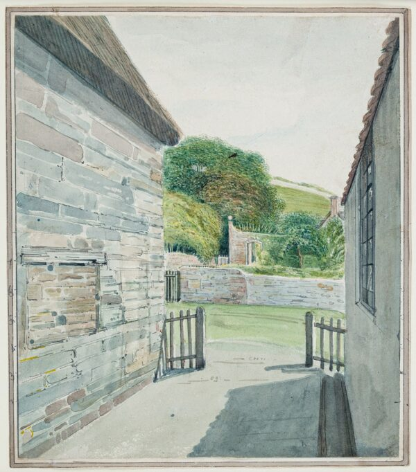 CUMBERLAND George (1754-1848) - 'Old Piggott's way from the Barn at Weston / with the old fashioned garden which you will remember'.
