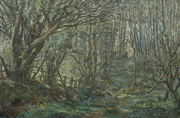 CUNDALL Charles R.A. R.W.S. (1890-1971) - The artist's woodland garden at Barnyard Cottage, Houghton.