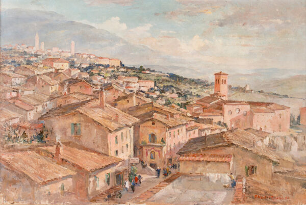 CUNDALL Charles R.A. R.W.S. (1890-1971) - The roofs of Assisi.