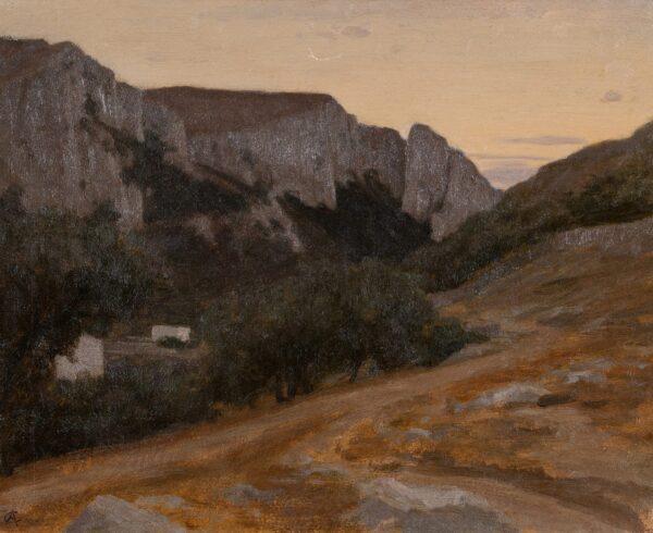 CURZON Alfred de (1820-1895) - 'Capri'.
