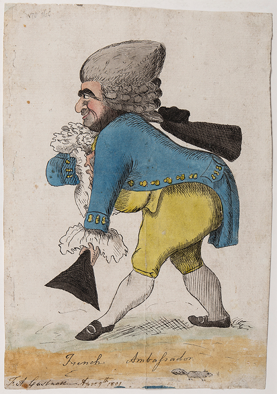 CUSTANCE F.A. (after William Dent fl.1783-1793) - 'French Ambassador'.