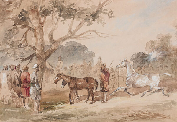 D'OYLEY Major-General Sir Charles Walters (1822-1900) - India: Horse dealers.