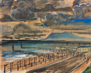 DACHINGER Hugo (1908-1995) - Isle of Man: 'Ramsay' from the Mooragh Internment Camp.