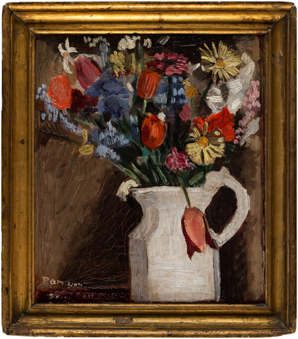 DAINTRY Adrian (1902-1988) - Spring flowers in a white jug.