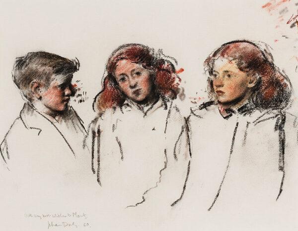 DALY Jehan (1918-2001) - Portrait studies.