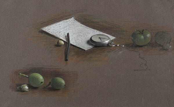 DALY Jehan (1918-2001) - 'Still-life studies with a watch'.