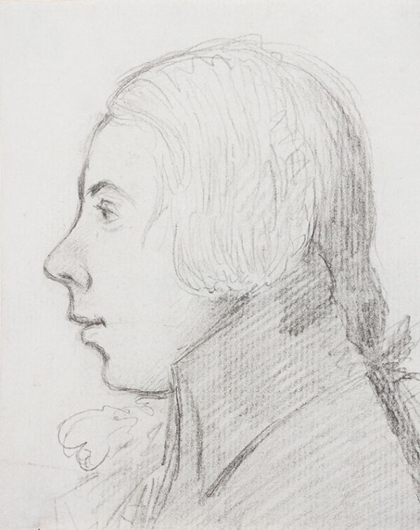 DANCE George Jnr. R.A. (1741-1825) - Profile of James Hall.
