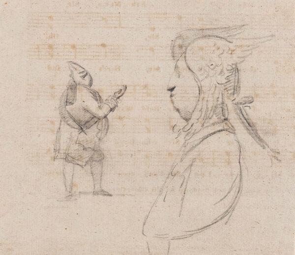 DANCE-HOLLAND Sir Nathaniel (1735-1811) - Studies of Opera Singers.
