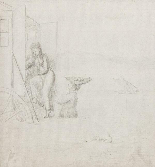 George DANCE Jnr R.A. (1741-1825) - Bathing Cabin.