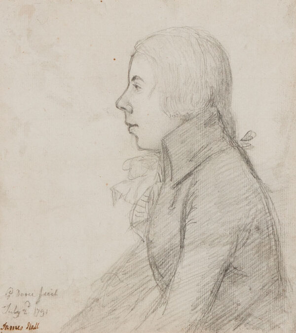 George DANCE Jnr R.A. (1741-1825) - 'James Hall'.