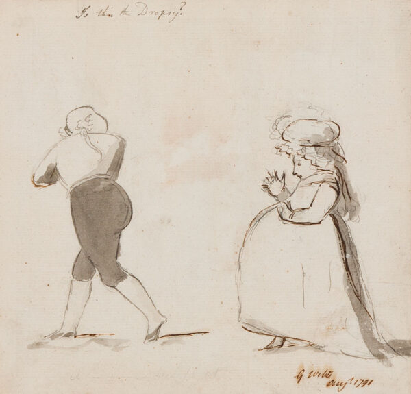 George DANCE Jnr R.A. (1741-1825) - 'Is this the Dropsy?'.