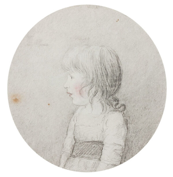 DANCE George R.A. (1741-1825 - 'Eleanor Hall', possible the sister of James Hall, whose portrait by Dance is illustrated in our archive.