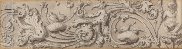DANIELL Thomas R.A. (1749-1840) (Attributed to) - Study of a carved section.