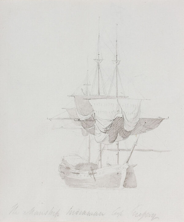 DANIELL William R.A. (1769-1837) - 'The Warship(?), Capt.