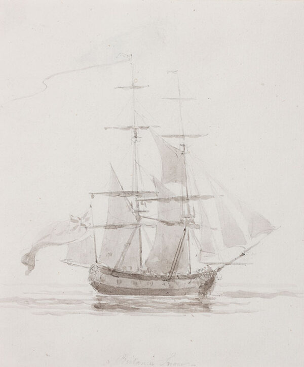 DANIELL William R.A. (1769-1837) - 'Britania Snow'(?).